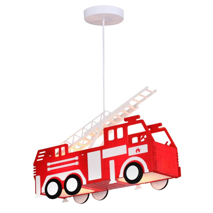 Fire car hanging lamp red pendant lamp children game room lighting Globo 15726 – Bild 1