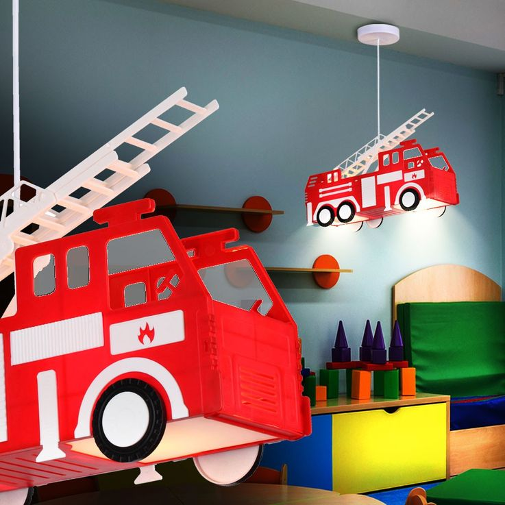 Fire car hanging lamp red pendant lamp children game room lighting Globo 15726 – Bild 6