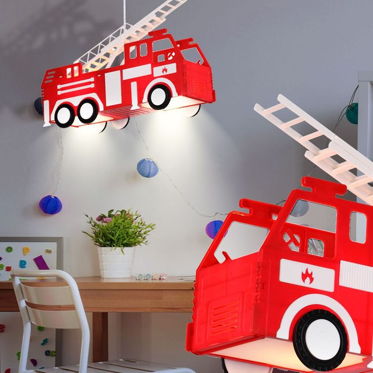Fire car hanging lamp red pendant lamp children game room lighting Globo 15726 – Bild 2