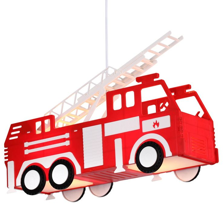 Fire car hanging lamp red pendant lamp children game room lighting Globo 15726 – Bild 5