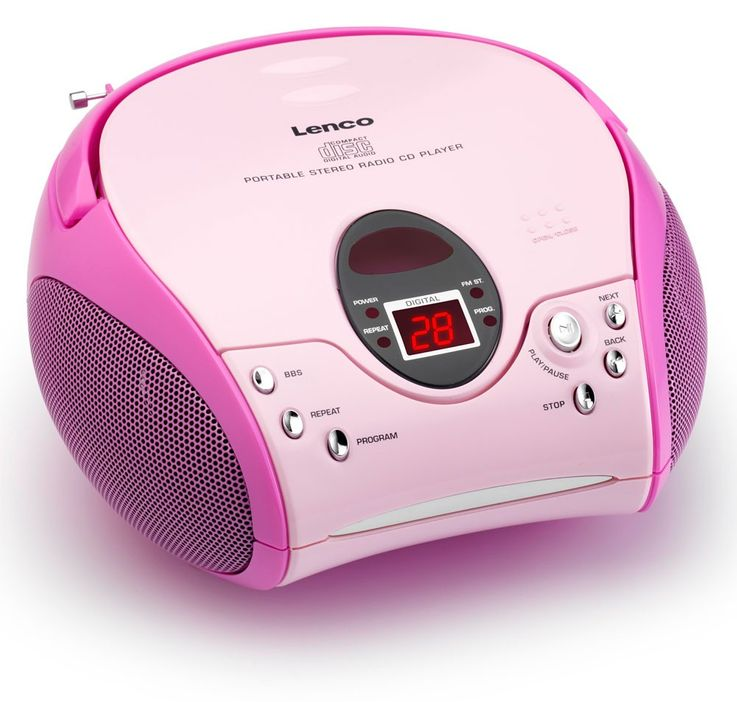 Children girls CD player MP3 music system stereo system radio in the set including heart stickers – Bild 2