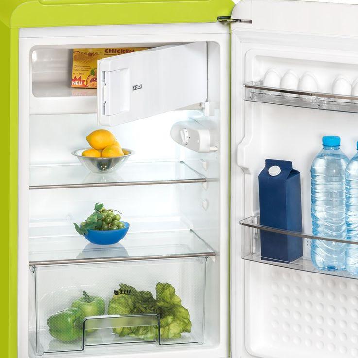 Design fridge freezer ice combination glass shelf Cabinet Exquisit RKS130-11A++ – Bild 3