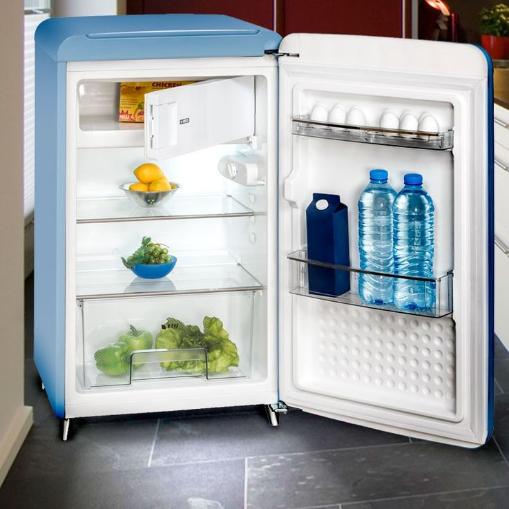 Stand frozen foods refrigerator freezer box blue ice compartment 121 L Exquisit RKS130-11A++ – Bild 2