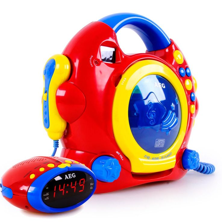 Children Music Karaoke system game room alarm clock 24 hours watch LED display – Bild 1