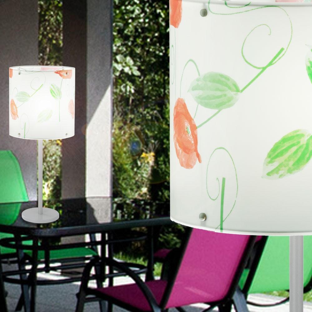 rgb led arbeits zimmer tisch leuchte beistell lampe fernbedienung blumen bl tter ebay. Black Bedroom Furniture Sets. Home Design Ideas