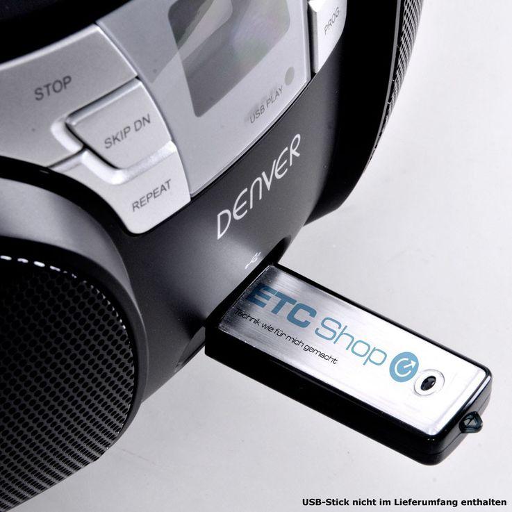 Toplader CD Player TCU-206 mit Smiley Aufkleber – Bild 6