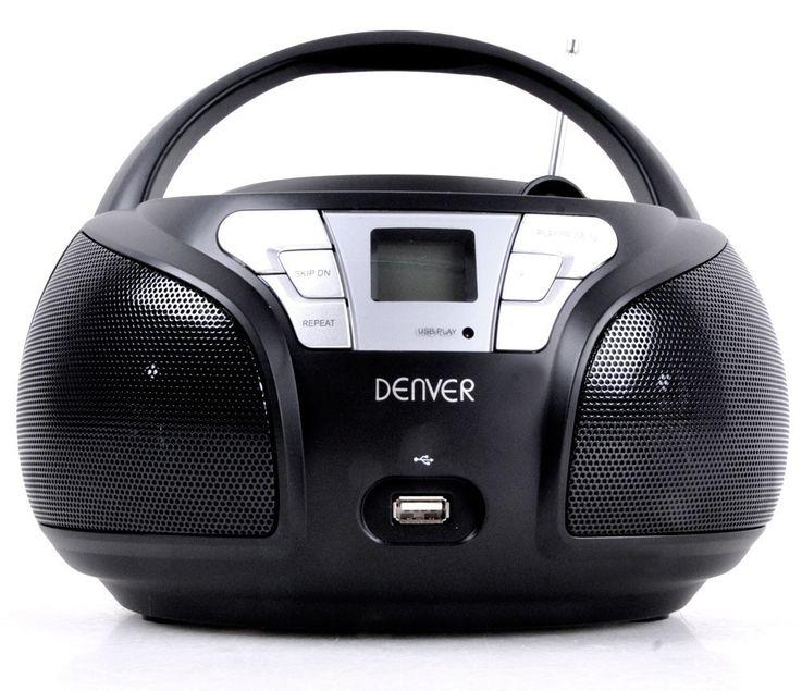 Hochwertiger CD Player toplader USB Boombox Stereo Lautsprecher mit Puffy Sticker – Bild 4