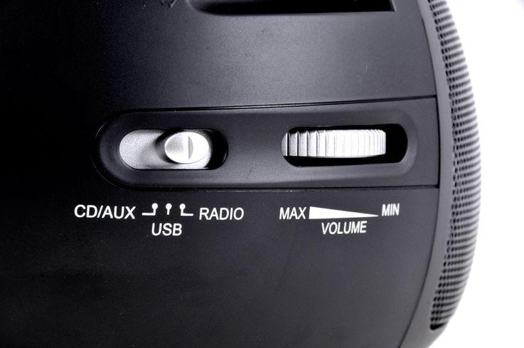 Hochwertiger CD Player toplader USB Boombox Stereo Lautsprecher mit Puffy Sticker – Bild 9