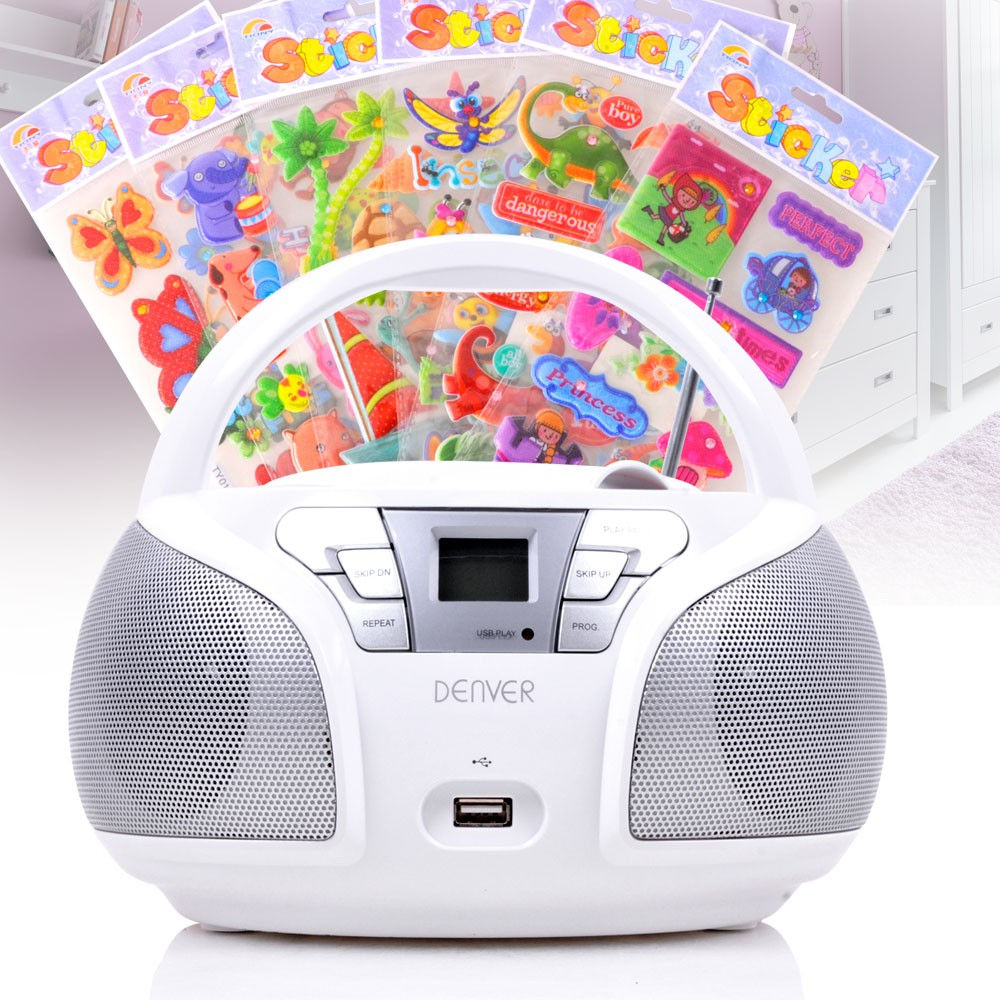 tragbarer cd musik player kinder zimmer stereo radio hifi. Black Bedroom Furniture Sets. Home Design Ideas