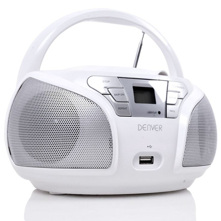Portable stereo speakers CD player FM radio in the set including children stickers – Bild 3