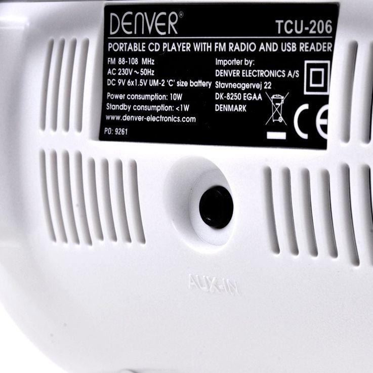Lecteur CD portable USB musique enfants boombox stéréo radio blanc autocollants  – Bild 6