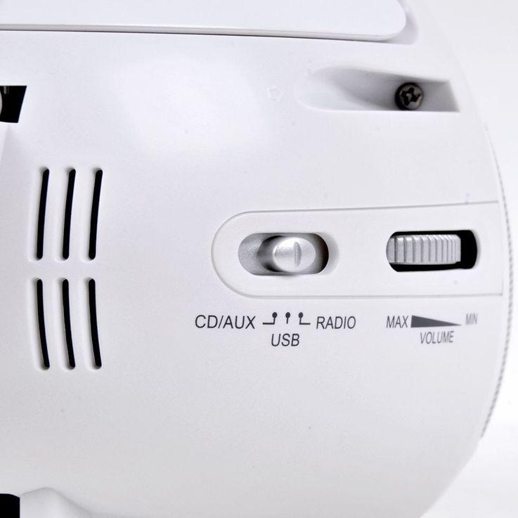 Lecteur CD portable USB musique enfants boombox stéréo radio blanc autocollants  – Bild 7