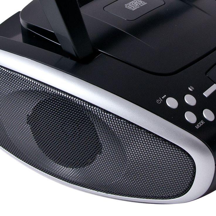 Radio lecteur CD portable stéréo chaîne hi-fi boombox noir AUX-IN musique audio – Bild 6