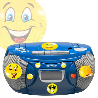 Kassetten CD Radio Stereo Anlage Musik Player im Set inklusive Smiley Sticker – Bild 1