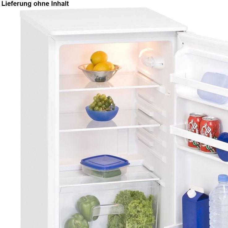 Stand Kühlschrank mit Arbeitsplatte 102L Nutzinhalt Exquisit KS102-1RVA+ weiss – Bild 3