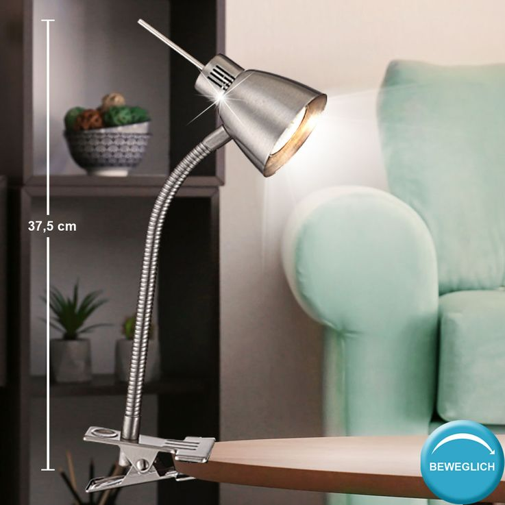 LED writing table clamp lamp sleep room side lamp FLEXO spot lighting  Globo 2476L – Bild 3