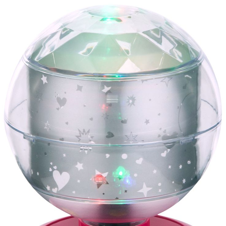 RGB LED Kinder Tisch Lampe Baby Deko Beleuchtung Spiel Zimmer Disco Kugel Leuchte pink Globo 28018 – Bild 3