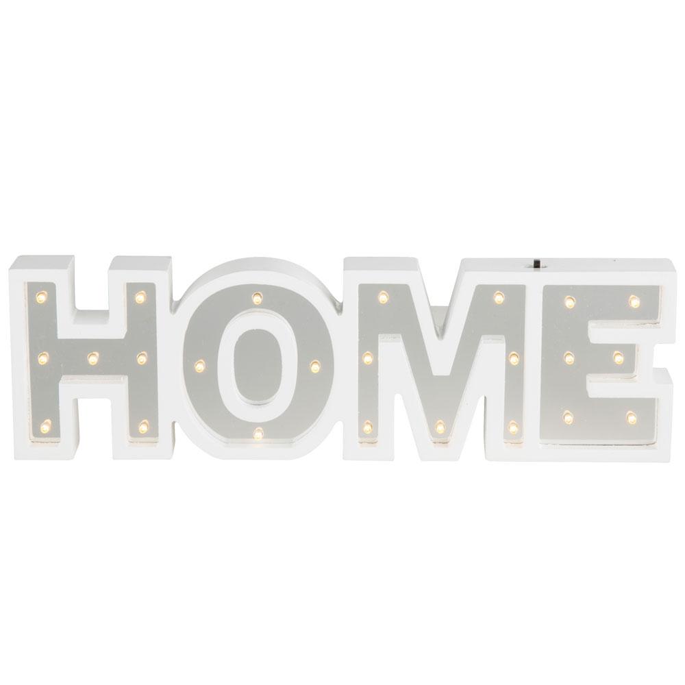 design led deko tischleuchte mit schriftzug home lampen m bel innenleuchten dekoleuchten. Black Bedroom Furniture Sets. Home Design Ideas