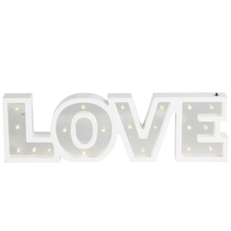 LED Table Lamp Lighting Living Room Stand Decoration Switch Mirror Luminaire LOVE Globo 29979 – Bild 1