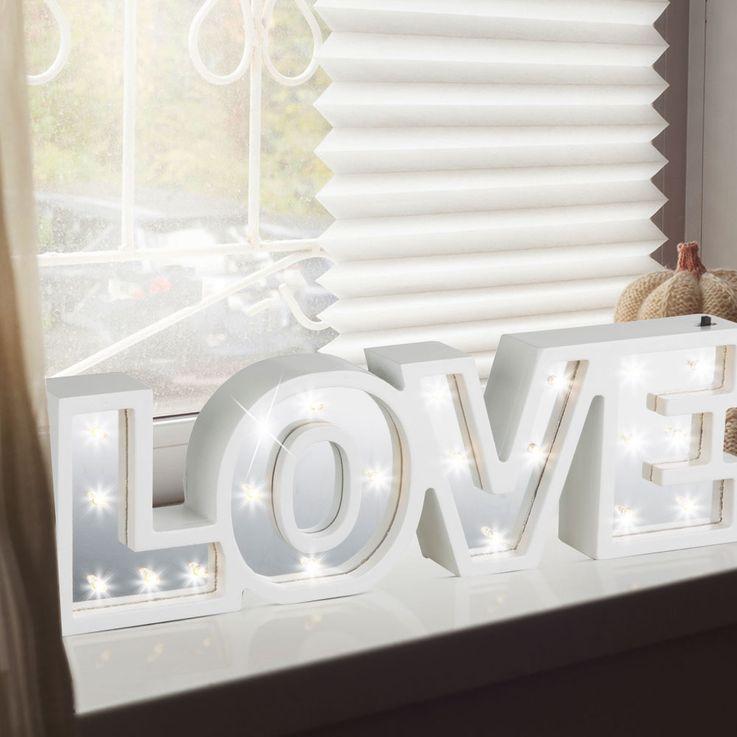Lampe de Table LED Luminaire Salon Luminaire Décoration Interrupteur Miroir Luminaire LOVE Globo 29979 – Bild 2