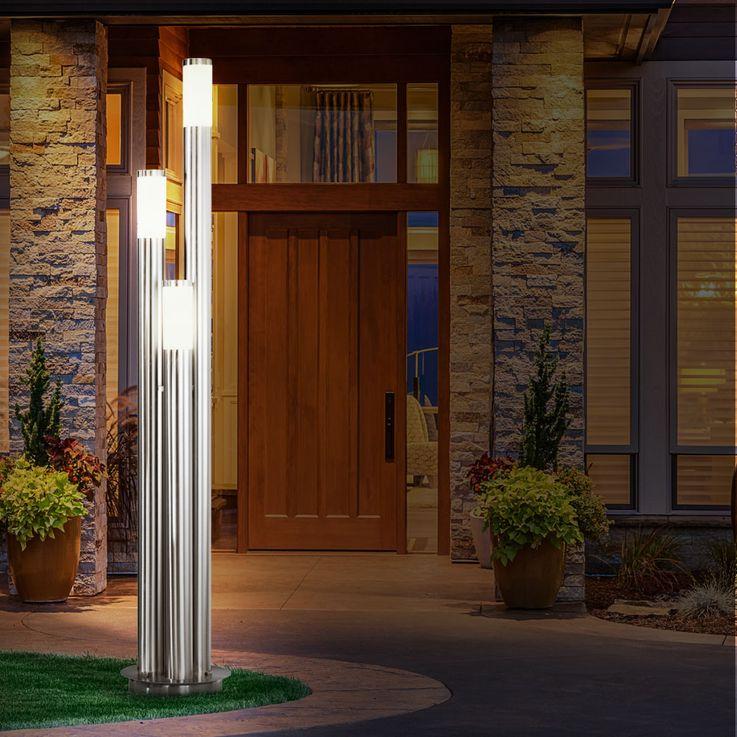 Edelstahl LED Stehleuchte für den Außenbereich BOSTON – Bild 6