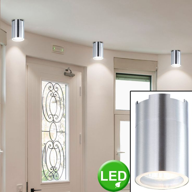 Construction Spotlight ceiling light dining room kitchen stainless steel lamp round 1-flg Globo 3202L – Bild 3