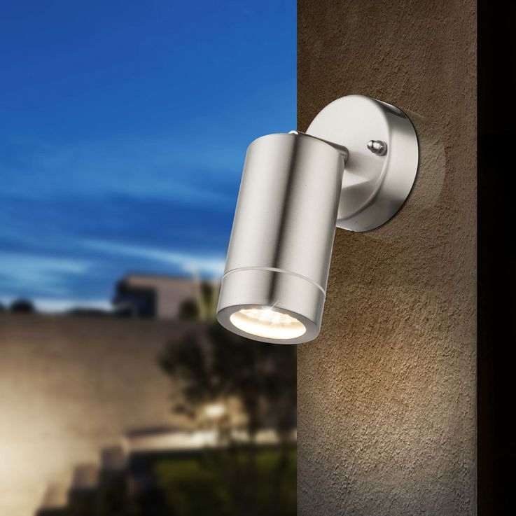 LED outdoor wall spot light facades lamp glass stainless steel IP44 Yard  Globo PERRY 32068 – Bild 5