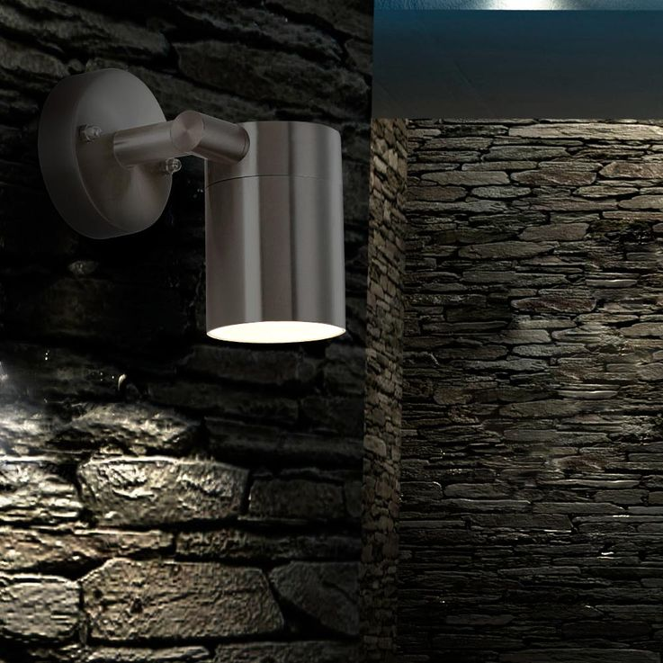 LED outdoor Wall lamp stainless steel patio glass light swiveling EEK A + Globo 3207L – Bild 5