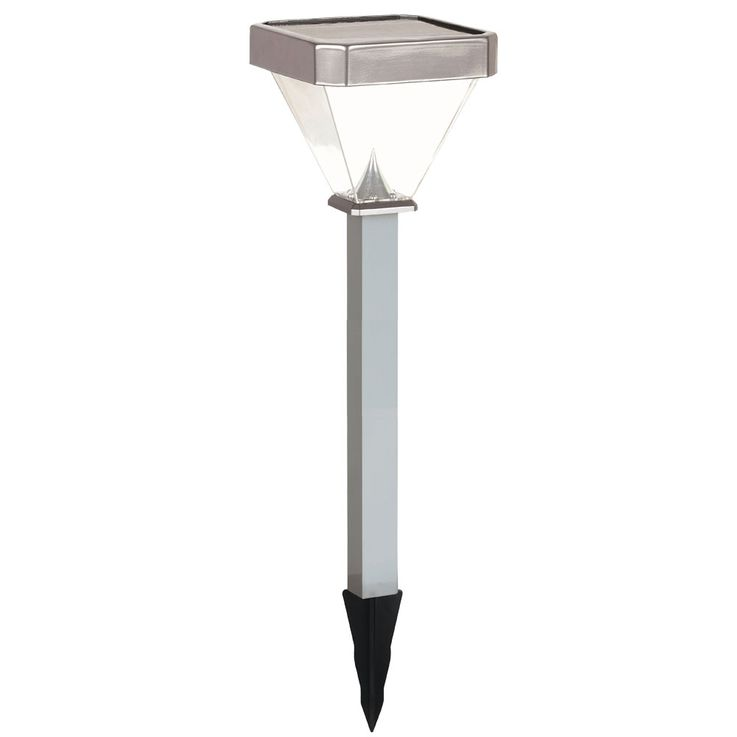 LED solar outdoor plug light earth spike garden way lighting ALU lamp silver  Globo 33238S1 – Bild 1