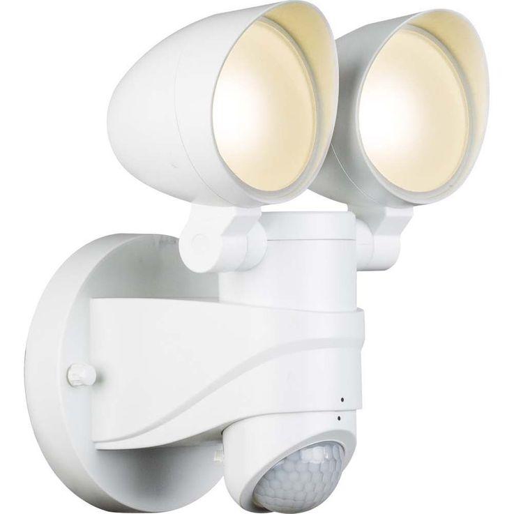 Bezaubernder 16W LED Außen Strahler aus Kunststoff, weiß