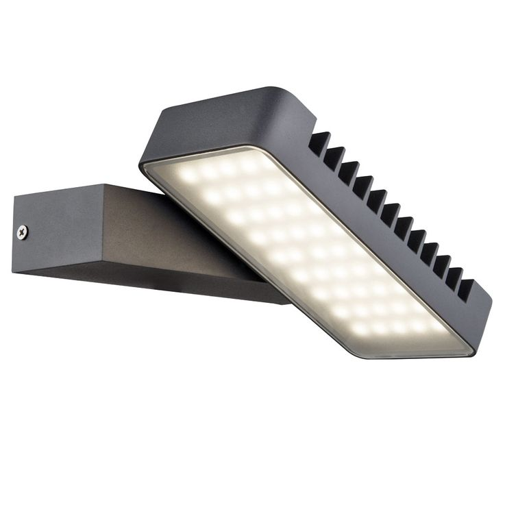 Special 10.5W LED Outdoor Wall House Lamp Aluminum Rotatable Glass  Globo LISSY 34133 – Bild 1