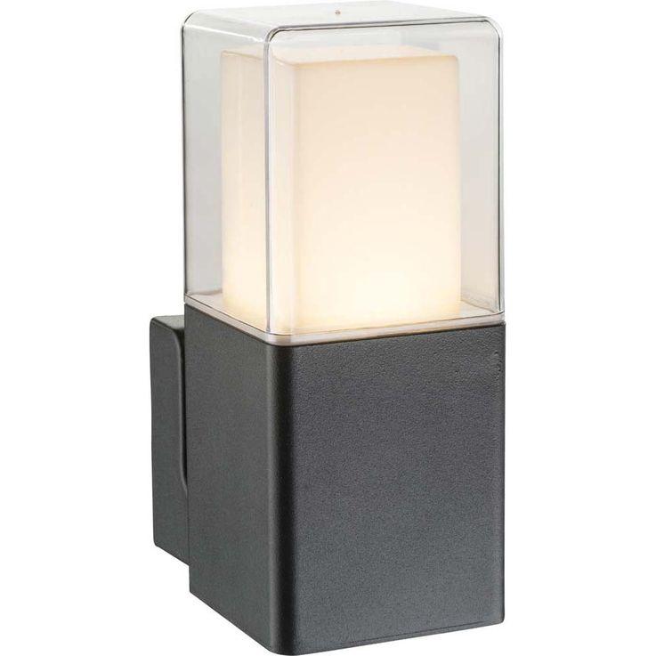Hippe 12W LED Outdoor Wall House Lamp Alu Glass IP44 Black Globo DALIA 34575W – Bild 1