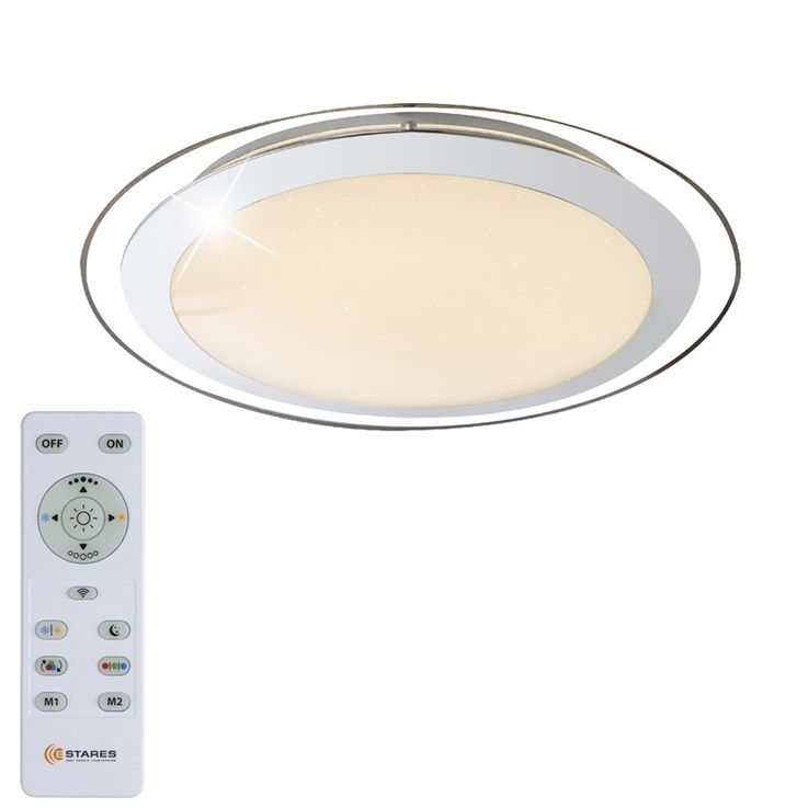 LED ceiling lamp living room RGB remote control star effect sleeping lamp dimmable Globo 48365 – Bild 1