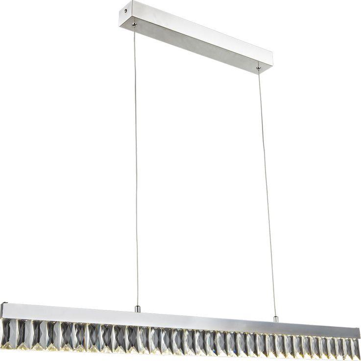 LED Kristall Pendel Leuchte Wohn Ess Zimmer Beleuchtung Chrom Decken Hänge Lampe Globo 49234-20H – Bild 1