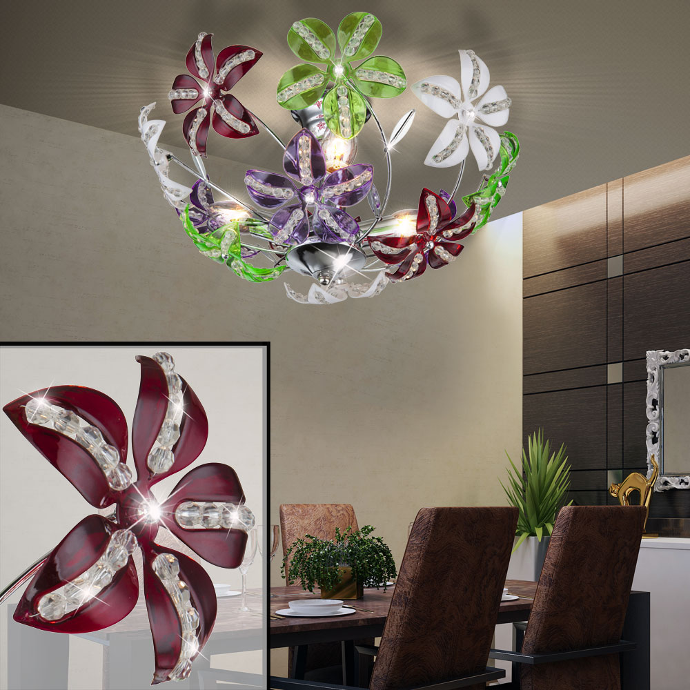 Luxus decken strahler esszimmer lampe kristall blumen for Esszimmer leuchte kristall