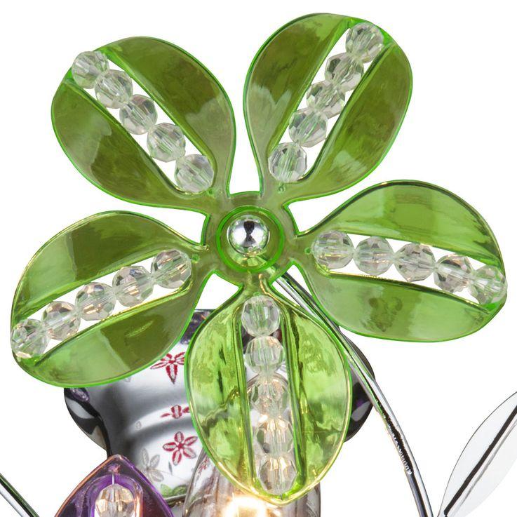 Design Plafonnier Salon Cristal Spotlight Blossom Flora Lampe Chrome Éclairage Globo 51422 – Bild 3