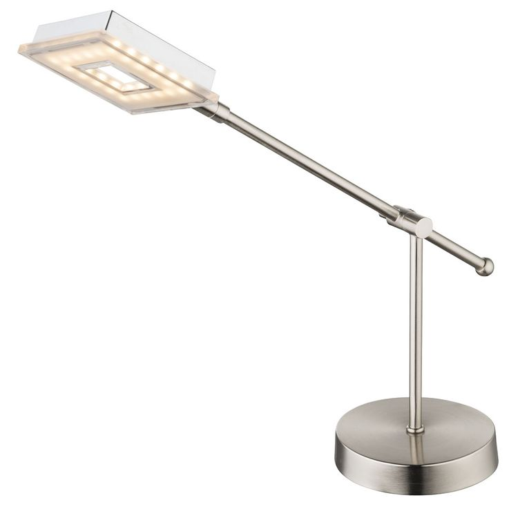 LED writing table lamp workroom chrome reading lamp switch adjustable Globo 56138-1T – Bild 1