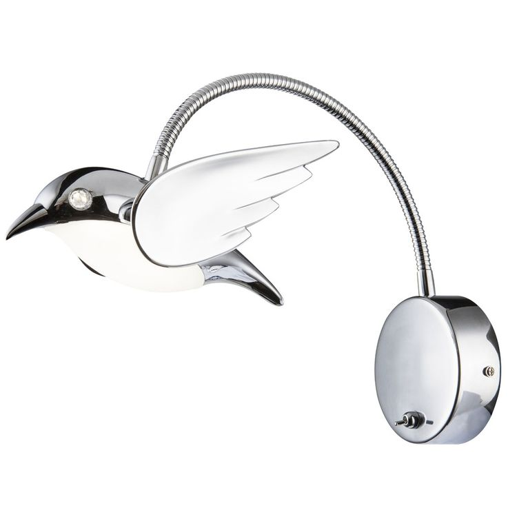 Applique LED design de salon design flexo luminaire lampe de lecture flexo chrome  Globo 56670-1W – Bild 1