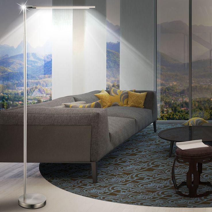 6W LED Standing lamp Living room side lighting Touch dimmer lamp silver Globo 58164 – Bild 4