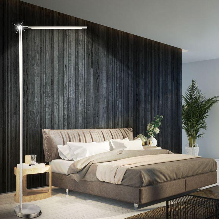 6W LED Standing lamp Living room side lighting Touch dimmer lamp silver Globo 58164 – Bild 3