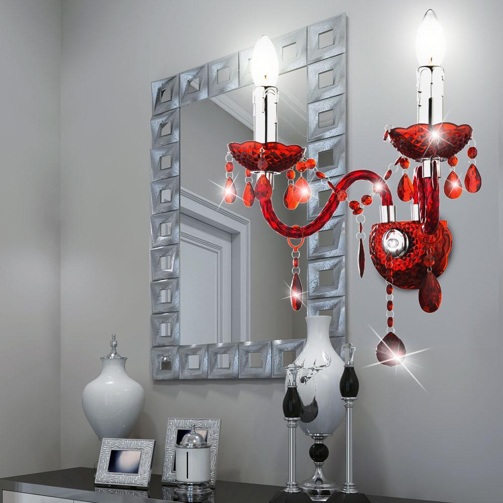 design kronleuchter f r die wand in rot cuimbra lampen m bel innenleuchten wandbeleuchtung. Black Bedroom Furniture Sets. Home Design Ideas
