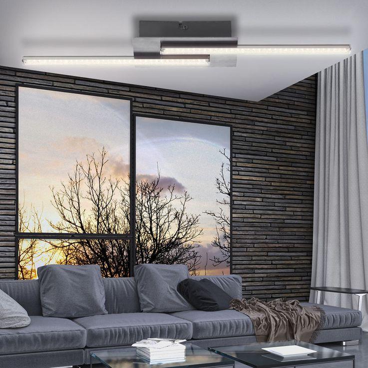 Luxus LED Decken Lampe Wohnraum Kristall Design Strahler Stäbe Leuchte EEK A Globo 67004-6 – Bild 4