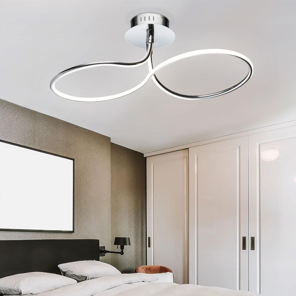 LED Deckenleuchte Deckenlampe Deckenstrahler Chrom ALU Stab Design L 20 cm  Wohnzimmer Esszimmer   ETC Shop
