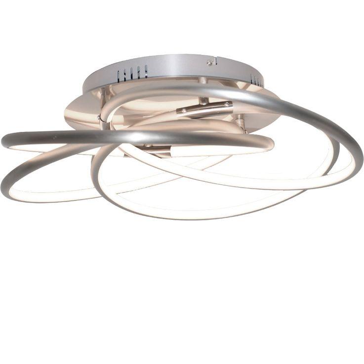 40W LED Decken Leuchte Lampe ALU Dimmer Beleuchtung Globo BARNA 67828-40 – Bild 1