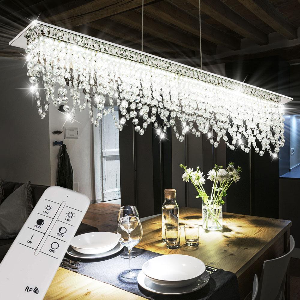 Design 24W LED Hängeleuchte Mit Kristallen Und Fernbedienung U2013 Bild 2