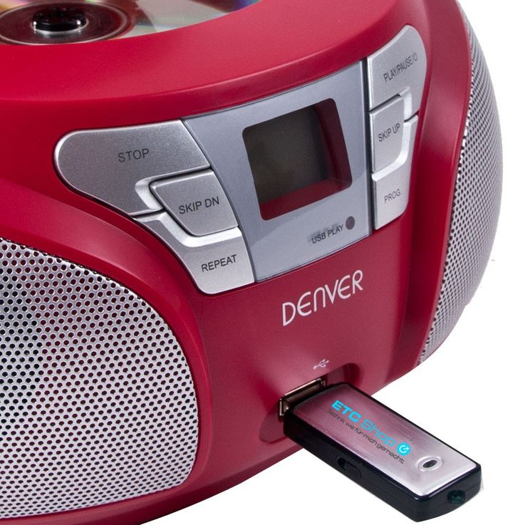 Stereo CD radio with USB connection and smiley stickers – Bild 6