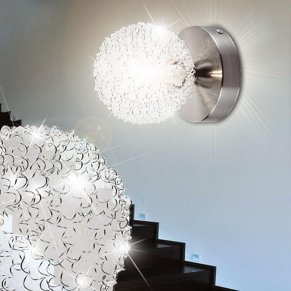 2er set wandlampen flur bad spiegel kugel beleuchtung. Black Bedroom Furniture Sets. Home Design Ideas
