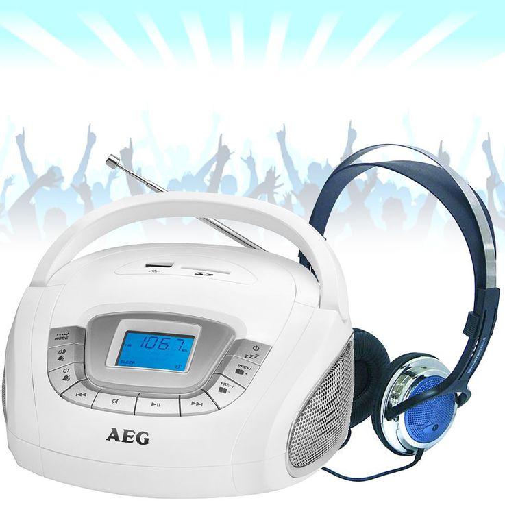 Haut-parleur stéréo radio boombox SD USB système de musique Á du jeu y compris les écouteurs – Bild 2