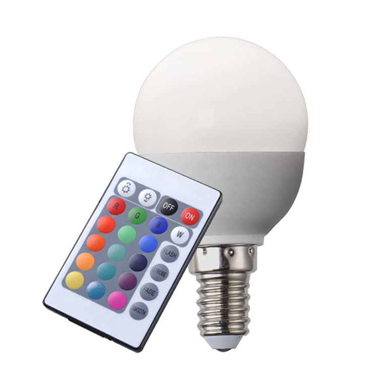 RGB LED E14 bulb 4 Watt incandescent bulb lamp dimmable  Globo 106750 – Bild 1
