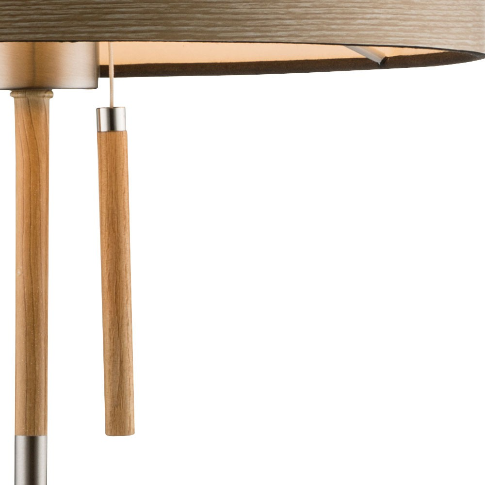 design schreib tisch b ro lese lampe holz textil stoff. Black Bedroom Furniture Sets. Home Design Ideas